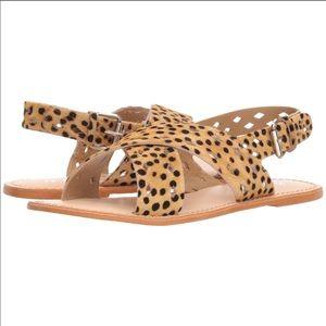 """Matisse """"Whistler"""" Cow Hair Criss Cross Sandals"""
